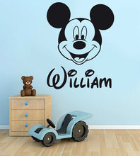 PERSONALISED Mickey Mouse Boys Name Vinyl Wall Art Sticker Decal Free Shipping
