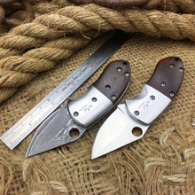Shootey Custom Damascus Tactical Folding Knife,Collection Mini Folder Knife,Survival Pocket Knives Tools,Outdoor Camping Knives