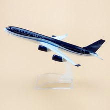 16cm Metal Air Azerbaijan Airlines A340 Airbus 340 4K-AZ86 Airways Plane Model Aircraft Airplane Model w Stand Craft(China)
