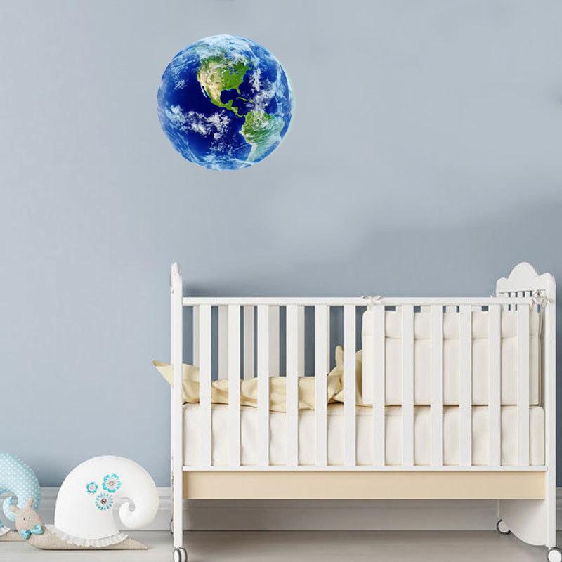 HTB1UB6uRVXXXXaOXVXXq6xXFXXXK - Hot sale 1PCS new Luminous blue earth Cartoon DIY 3d Wall Stickers for kids rooms bedroom wall sticker Home decor Living Room
