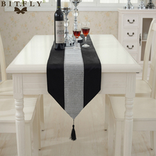 Modern Luxury European-style Flannel Diamond Table Runner Wedding Party supplies Banquet Decoration Tablecloth