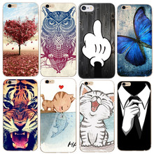 Fashion Butterfly Bow Cat Case Soft TPU Cover Capa Carcasa Funda Coque For iPhone 6 Case For iPhone 7 6 S 5S SE  Cases