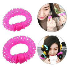 16Pcs/Lot New curlers do not hurt the hair self-adhesive curling hair curlers plastic hair styling tools(China)