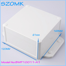 10 pcs/lot whosale szomk  box plastic box custom waterproof  hinge  box abs plastic box for electronics 168x120x61mm