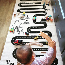 180*70cm Ins Baby Kids Brand Blanket Play Games Mat Baby Toy Racing Canvas Adventure Village Printed Gift for Children Play Mat