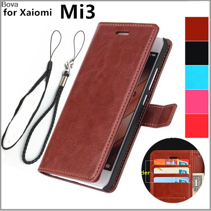 for fundas Xiaomi Mi3 card holder cover case for Xiaomi Mi3 Pu leather case ultra thin wallet case flip phone cover phone bags(China)