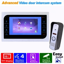 "HD 10"" Video Door Phone Intercom Doorbell Camera System Support CCTV Security Door Access Control Rainproof F1364D"
