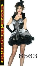 halloween devil Ghost bride costume dress Zombie Black Fancy Dress halloween Party out fit w1215(China)