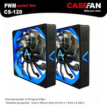 ALSEYE 120mm Cooler (2pieces) PWM 4pin Fan for Computer Case / CPU Cooler / Water Cooling 12V 500-2000RPM Silent Fan