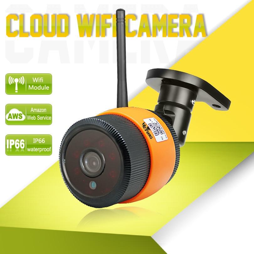 Wetrans Wifi IP Camera Wi-fi Outdoor Waterproof HD 720P Wi Fi Night Vision P2P Cloud Storage Wireless Surveillance Camara IP Cam<br>