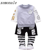 New Hot Children Boys Girls Sport Clothing Sets Baby T-shirt Pants 2Pcs Suits Autumn Kids Fasion Clothes Toddler Tracksuits
