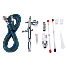 Dual Action Airbrush Paint Air Brush Spray Gun Sprayer Pen Kit 0.2/0.3/0.5mm For Needle body Paint Nail Art Tattoo Cake Toy