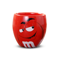 Cute M&M's MM Beans Cafe Oatmeal Coffee Mug Drinking Cups Ceramic Colored Glaze Coffee Milk Mugs Water Tea Cups Drinkware