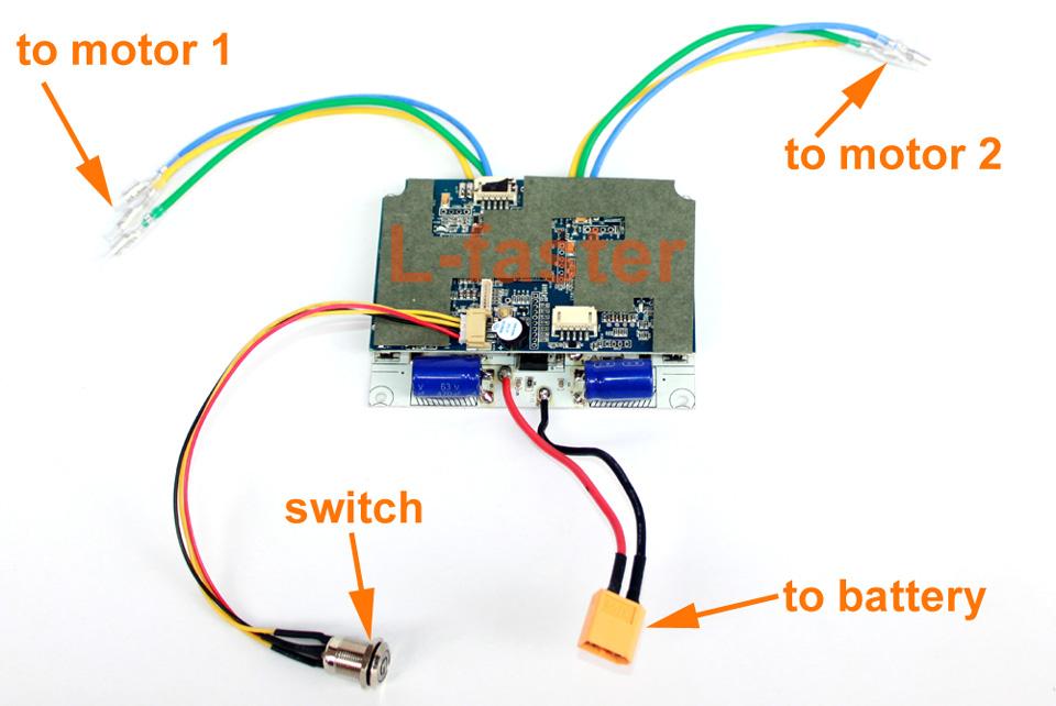 electric skateboard dual motor drive control board -2-a