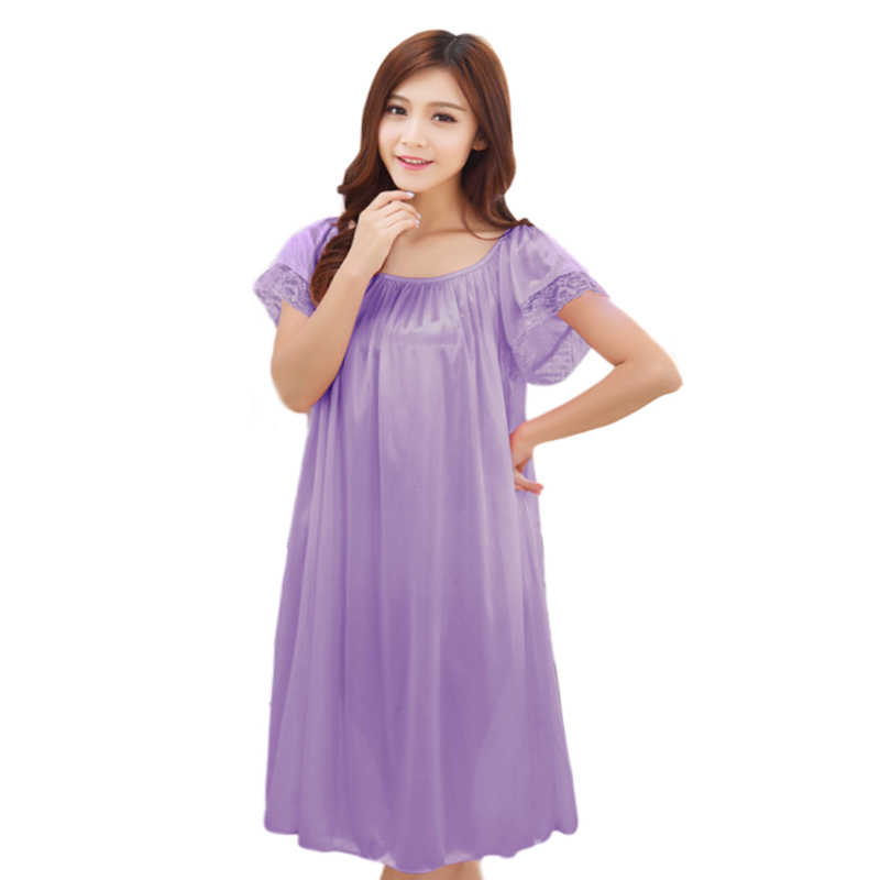 8417533115 Detail Feedback Questions about Maternity clothes sleepwear nightdress long  silk nightgowns pajamas for pregnant women nightclothes maternal pajama plus  ...
