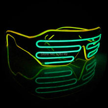 Double color Quick Flashing El Led Glasses Luminous Party Lighting Colorful Glowing Classic Toy for Dj Bright Light Holiday Gift