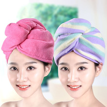 New 2017 Brand Hair Drying Towel --2PC Microfiber Quick Dry AbsorbentHair Cap Turban Women Towels Bathroom Salon towel