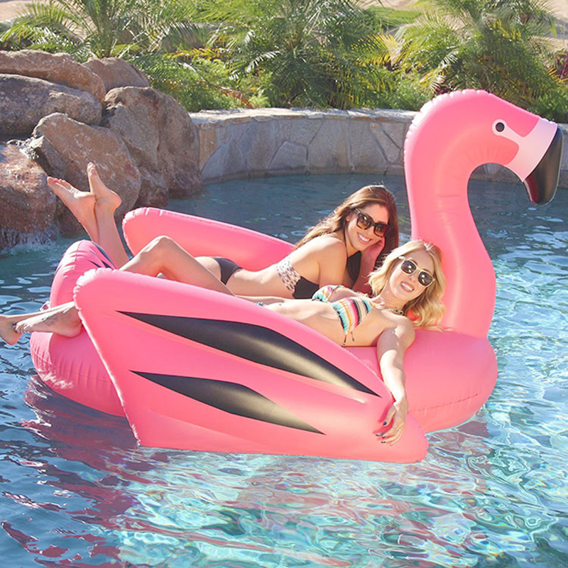 Inflatable-Flamingo-Swimming-Pool-Float-Giant-190cm-Ride-on-White-Swan-Swimming-Lounge-Summer-Holiday-Beach (1)