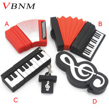 VBNM mini cute accordion pendrive 4GB 8GB 16GB 32GB usb flash drive cool piano memory Stick music U disk(China)