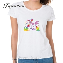 Buy Ingoroo Top Brand Unicorn T Shirt Tee Femme Brand Shirts Women Tumblr Women Sexy Shirts Bmw M Letter T Shirt Womens Top for $7.99 in AliExpress store