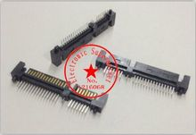 10 Pcs Per Lot SATA 7+15 Pin 22 Pin Straight Male Connector For Hard Drive HDD