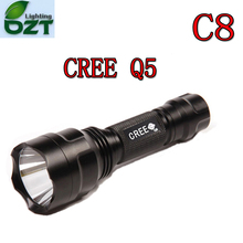 Hight Power Cree Led Torch C8 Cree LED Flashlight Torch light Waterproof For 1x18650(China)