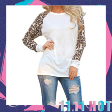 Buy 2016 New Fashion Women Ladies Autumn Long Sleeve Leopard Loose Casual Tees Tops T Shirt Plus Size 5XL O Neck Black White Clothes for $8.40 in AliExpress store