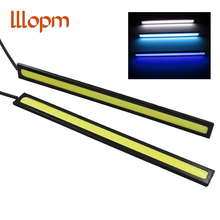2PCS LED Daytime Running Light 100% Waterproof Ultra-thin 17CM COB Chip LED DIY DRL Fog car lights For Kia Toyota BMW Audi CE(China)
