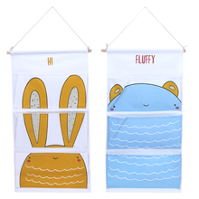 Cute Cartoon Behind Door Wall Big Size Wardrobe Night Table Storage Bag female Travel Pouch Bag Bathing Storage Bag Organize(China)