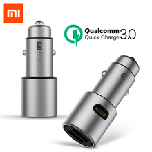 Original Xiaomi Car Charger Quick Charge 3.0 Xiomi 5V/3A Dual USB 9V/2A 12V/1.5A for Android iOS(China)