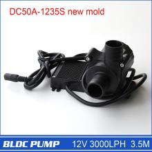 Micro Solar Water Pump 50A-1235S, 1pcs 3000LPH 3.5M, Suitable for Water Circulation Garden Plant Pond Farm Cultivation, etc.