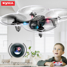 SYMA X11C 2.4G 4CH 6 AIXS GYRO 3D Flip Headless Mode Mini Drone With HD Camera Quadcopter Helicopter Dron High Quality Toys(China)