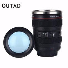 OUTAD 1 pc 2017 New Arrival 24-105mm Camera Lens Shape Cup Coffee Tea Travel Mug Stainless Steel Vacuum Flasks Camera Lens Cup