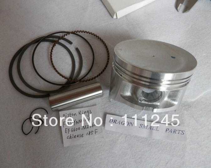 MZ360  PISTON KIT 85MM  FOR YAMAHA EF6600 185F 4 STROKE MOTOR 5KW GENERATOR CYLINDER ASSEMBLY W/ KOLBEN RING SET PIN  CLIPS <br>