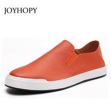 Лето-осень Для мужчин s Мокасины сплошной Цвет обувь на плоской подошве без  застежки свет 7930cb605b7