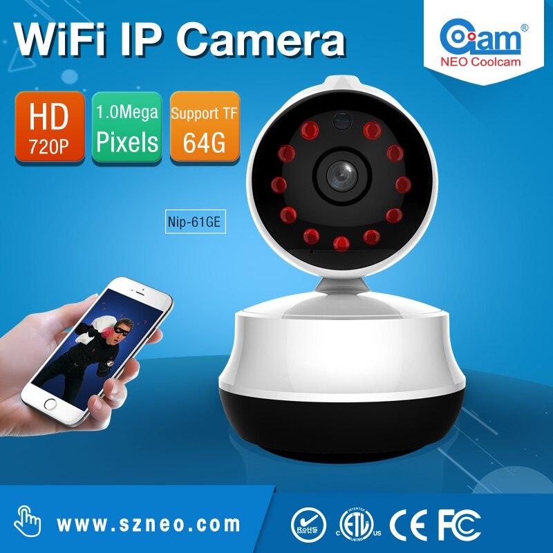 Neo Coolcam NIP-61GE MINI Wifi IP Camera wi-fi 720P Wireless P2P CCTV Network Camera Security SD Card Baby Monitor<br>