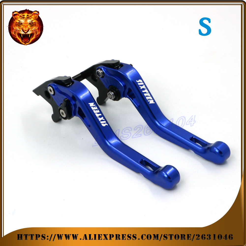Adjustable Short Brake Clutch Levers For SUZUKI UX150 UX-150 Sixteen  2010 2011 2012 blue FREE SHIPPING Motorcycle Accessories <br>