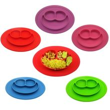1pcs Waterproof Silicone Placemat Bar Mat Baby Kids Plate Mat Table Mat Set Home Kitchen Pads Divided Dish Bowl Plates