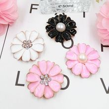 DOWER ME brand 20 Pcs/lot Pasteable Crystal alloy Flower 3D Stickers for Phone DIY Mobile Phone Decorations(China)