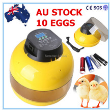 AU Stock Digital 10 Chicken Eggs Semi Automatic Incubator Hen Bird Duck Poultry + Candler