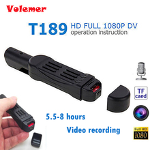 Original Volemer T189 Mini DV Camera HD 1080P 720P Pocket Pen Micro Camera Video Voice Recorder Camcorder Camara Digital DVR Cam(China)
