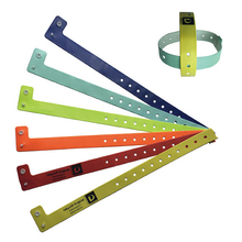100pcs L shape pvc material vinyl wristband/bracelet, wristbands for events, festival wristbands(China)