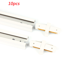 10pcs Led Track Rails for Led Track lamp 1M/pcs 2 Pins Aluminum Track Lighting Fixtures 2 Wire Tracks +Connectors