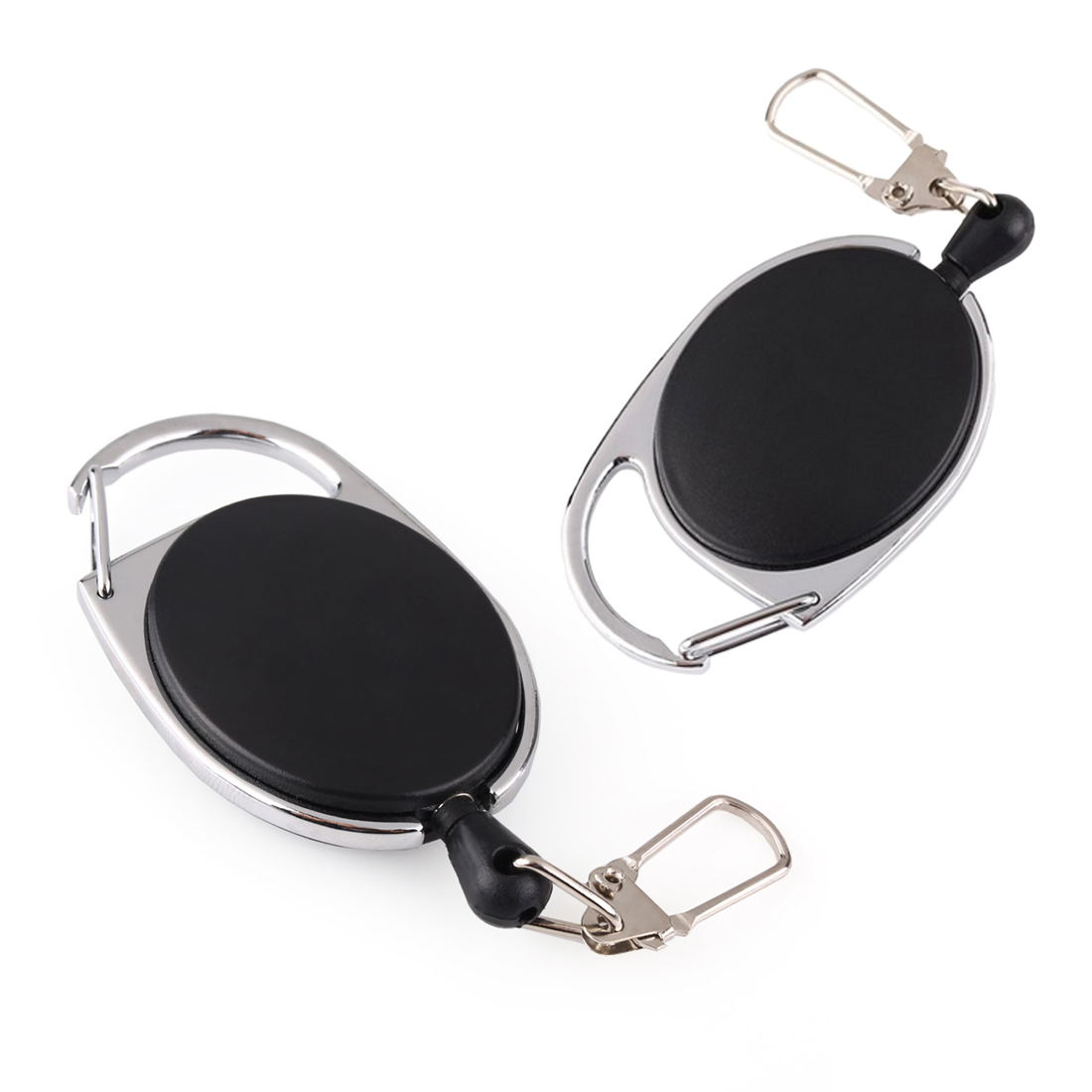 1PC Portable Retractable Wire Rope Key Burglar Keychain Edc Tactical Keyring