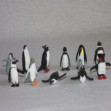 PVC figure Doll model toy Scene simulation Marine animal model toy penguin Emperor enterprises plastic ornaments scene set(China)