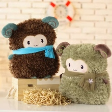 Hand warmer sheep plush dolls 35cm cute sheep gift for boys and girls doll & hand warmer two functions