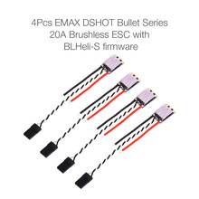 RC Drone ESC 4Pcs for EMAX 20A Brushless ESC Bullet Series BLHeli-S Dshot 2-4S Electric Speed Controller for 210 180 FPV Racer(China)
