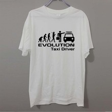 Funny Evolution Of A Taxi Driver Job Work Novelty Tshirt For Men Summer Fashion Letter T Shirt Cotton Casual T-Shirt
