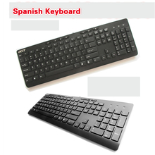 Brand Spanish Chocolate thin waterproof PS2 interface desktop keyboard Original ACER keyboard for computer desktop PC PS2(China)