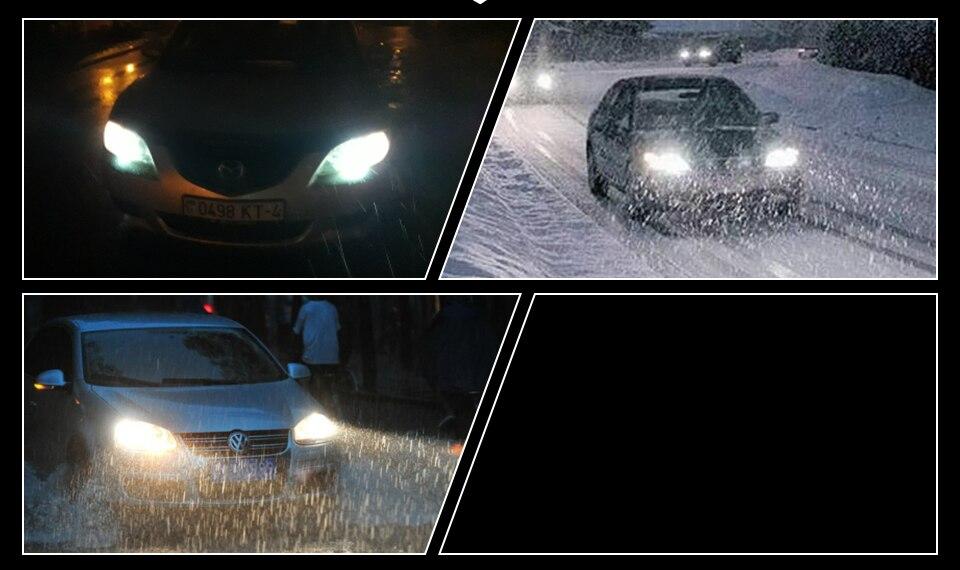 MeeToo H7 Led Car Headlight H4 LED H1 H11 HB4 HB3 9005 9006 72W 8000LM Bright Car Headlights Fog Light 12V Auto Headlamp 6500K  (12)